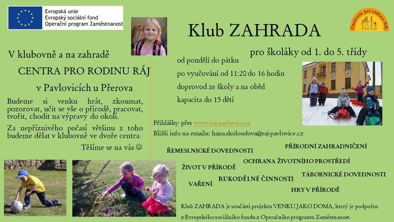 Klub ZAHRADA